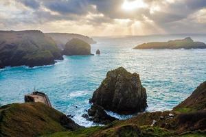 Pfosten Bucht Cornwall