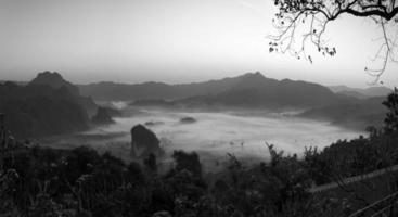 Phu Langka Panorama Ansicht. foto
