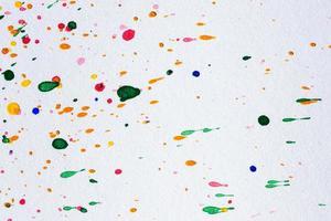 Aquarelltröpfchen auf weißem Papier