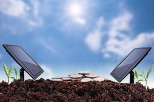 Energie- und Geldsparkonzept