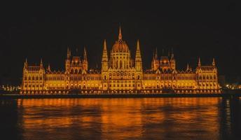 das ungarische Parlamentsgebäude in Budapest, Ungarn
