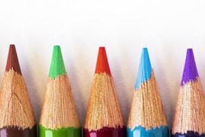bunte Bleistiftspitzen