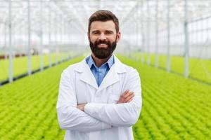 männlicher wissenschaftlicher Forscher