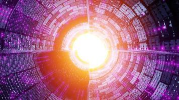 futuristischer Raumschiff-Tunnel, ein Hintergrundbild der 3D-Illustration