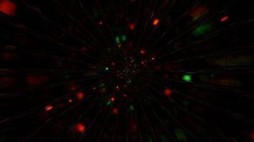 schnelle Raumteilchen, die durch ein Hintergrundbild der 3D-Illustration fliegen