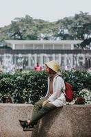 unbekannte Frau in Indonesien