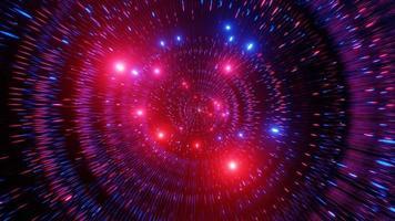 3D-Illustration des leuchtenden Raumtunnels