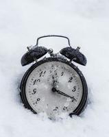 gefrorene Uhr