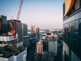 Blick auf London bei Sonnenuntergang foto