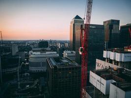 Blick auf London bei Sonnenuntergang