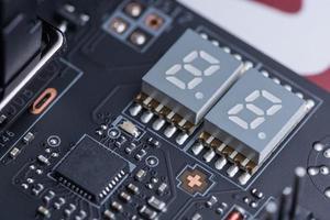 elektronische Leiterplatte, Nahaufnahme