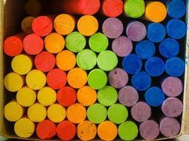 farbiger Kreidehintergrund