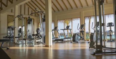 Malediven, Südasien, 2020 - ein leeres maledivisches Resort-Fitnessstudio