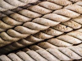 hellbraunes strukturiertes Seil