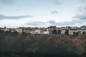 Luftaufnahme von Edinburgh foto