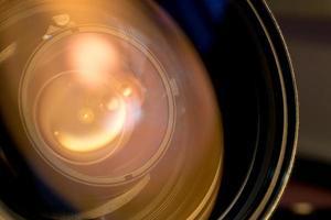 Nahaufnahme eines Kameraobjektivs foto