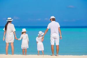 Familienurlaub am Strand foto