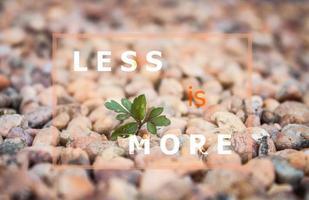 weniger ist mehr inspirierendes Zitat