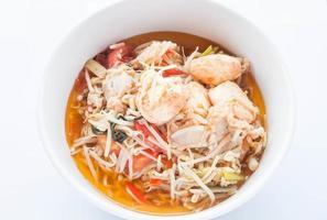 Draufsicht auf Suppe