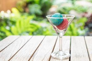 Macaron in einem Glas foto