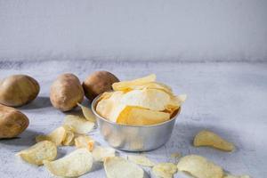 gebratene Kartoffelchips