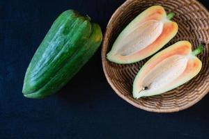 reife Papaya-Frucht