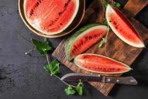 frische Wassermelonenscheiben