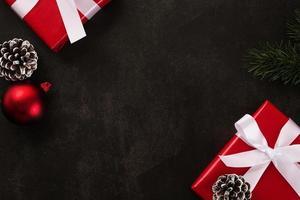 Weihnachtshintergrund mit Kopierraum