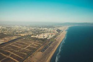 Blick über die Küste von Los Angeles foto
