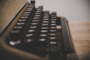 Nahaufnahme einer Vintage-Schreibmaschine