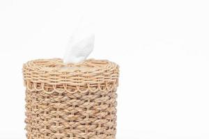 Oberseite einer gewebten Taschentuchbox