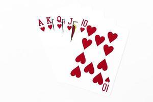Stapel Spielkarten foto