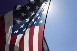 Nahaufnahme der amerikanischen Flagge foto