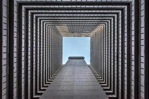 Hong Kong Wolkenkratzer abstrakt