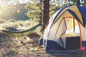 Zelt und Hängematte in Big Sur