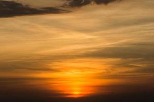 Himmel bei Sonnenuntergang