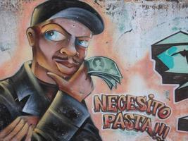 Necesito Pasta Graffiti Zeichnung foto
