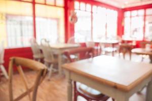 unscharfe Cafe-Kulisse
