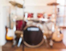 unscharfer Musikinstrumentenhintergrund foto