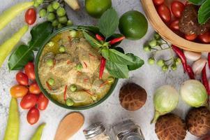 grünes Curry Huhn