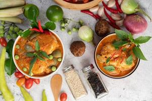 rotes Curry Huhn