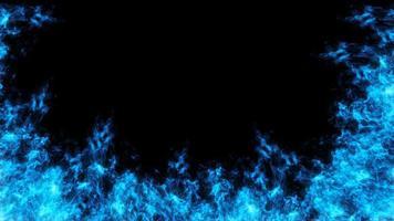 blaues Feuerdesign