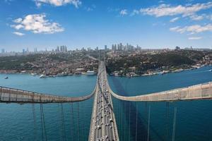 Istanbul Blick von der Brücke foto