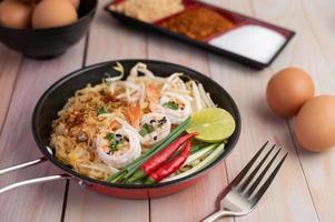Pad Thai frische Garnelen