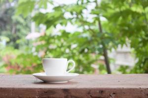 weiße Latte Tasse