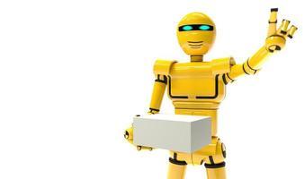 Roboter-Kurier zukünftiger Lieferservice foto