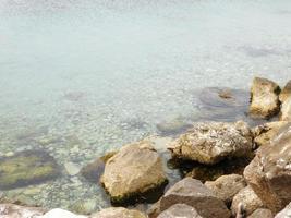 trübes Meerwasser foto