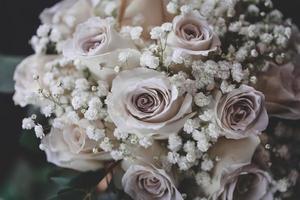 Nahaufnahme eines Blumenstraußes foto