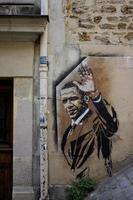 montmartre, frankreich, 2020 - barack obama wandbild