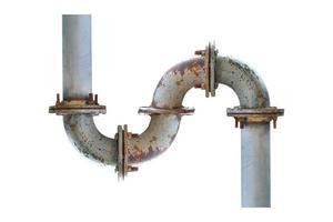 S-Form Rohr auf einem weißen Hintergrund foto